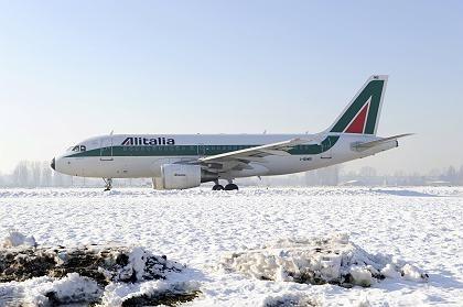 Alitalia-Flugzeug: Air France-KLM beteiligt sich zu 25 Prozent an der Airline