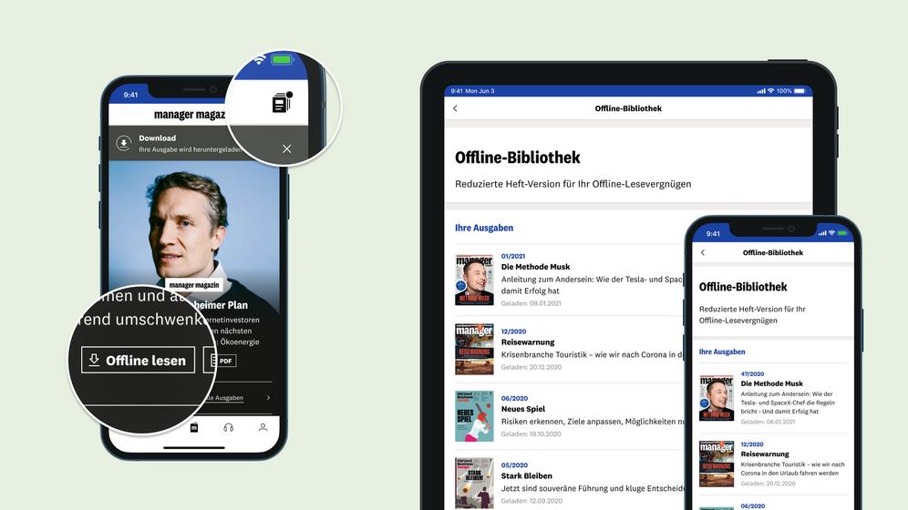 Die neue Offline-Bibliothek: Ihr Speicher für die digitalen Magazin-Inhalte