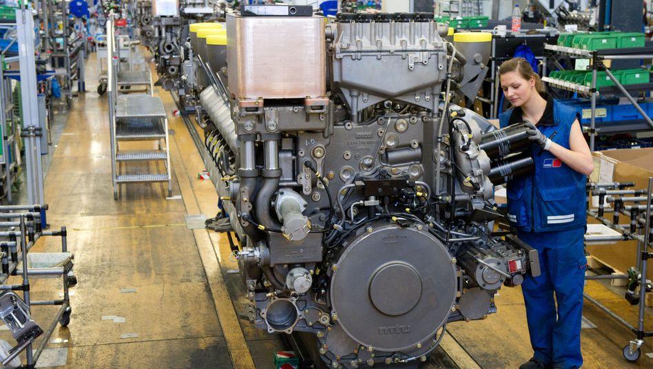 Maschinenbau bei MTU in Friedrichshafen: Mehr Nachfrage aus Asien belebt die deutsche Industrie