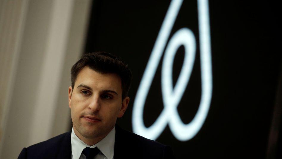 Airbnb-CEO Brian Chesky: Das Angebot der Plattform in Berlin, Paris und anderen Metropolen geht zurück.