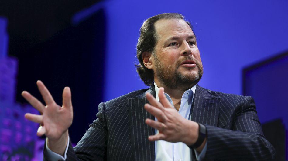 """Salesforce-Chef Mark Benioff: """"Der Übergang bei SAP läuft einfach nicht rund"""""""