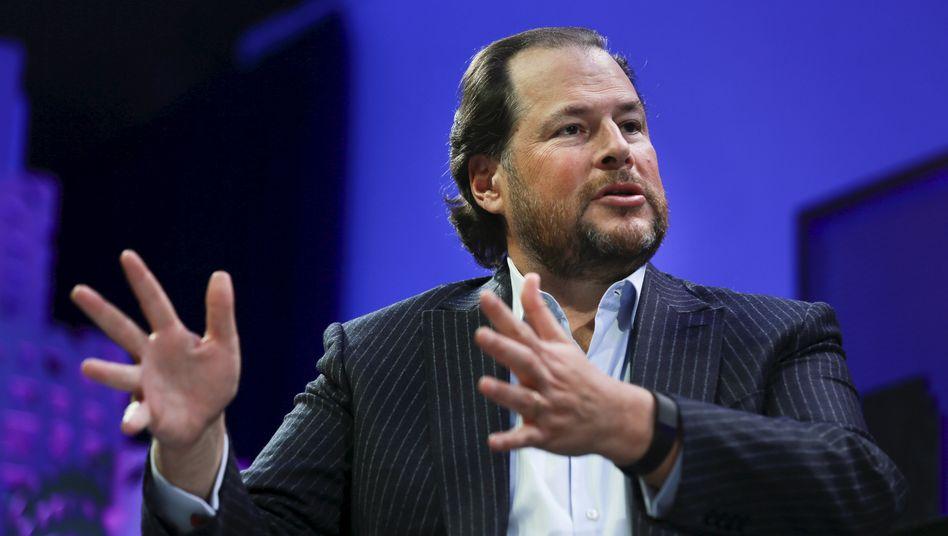 """Salesforce-Chef Marc Benioff: """"Wir schauen uns eine Menge an"""""""