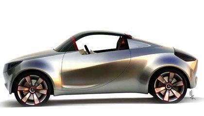 Mitsubishi Roadster Konzept: Der Zweisitzer hat im Fond eine Klappsitzbank, wo entweder zwei weitere Passagiere Platz finden oder wo - bei umgelegten Sitzen - zusätzlicher Stauraum entsteht