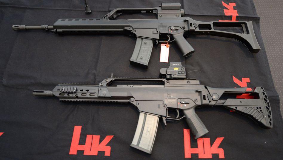 Sturmgewehre von Heckler & Koch: Auf die Hauptversammlung kommen auch viele Gegner des Unternehmens.