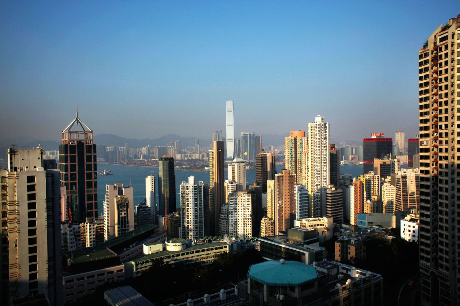 China / Banken-Viertel / Banken / Skyline / Hong Kong