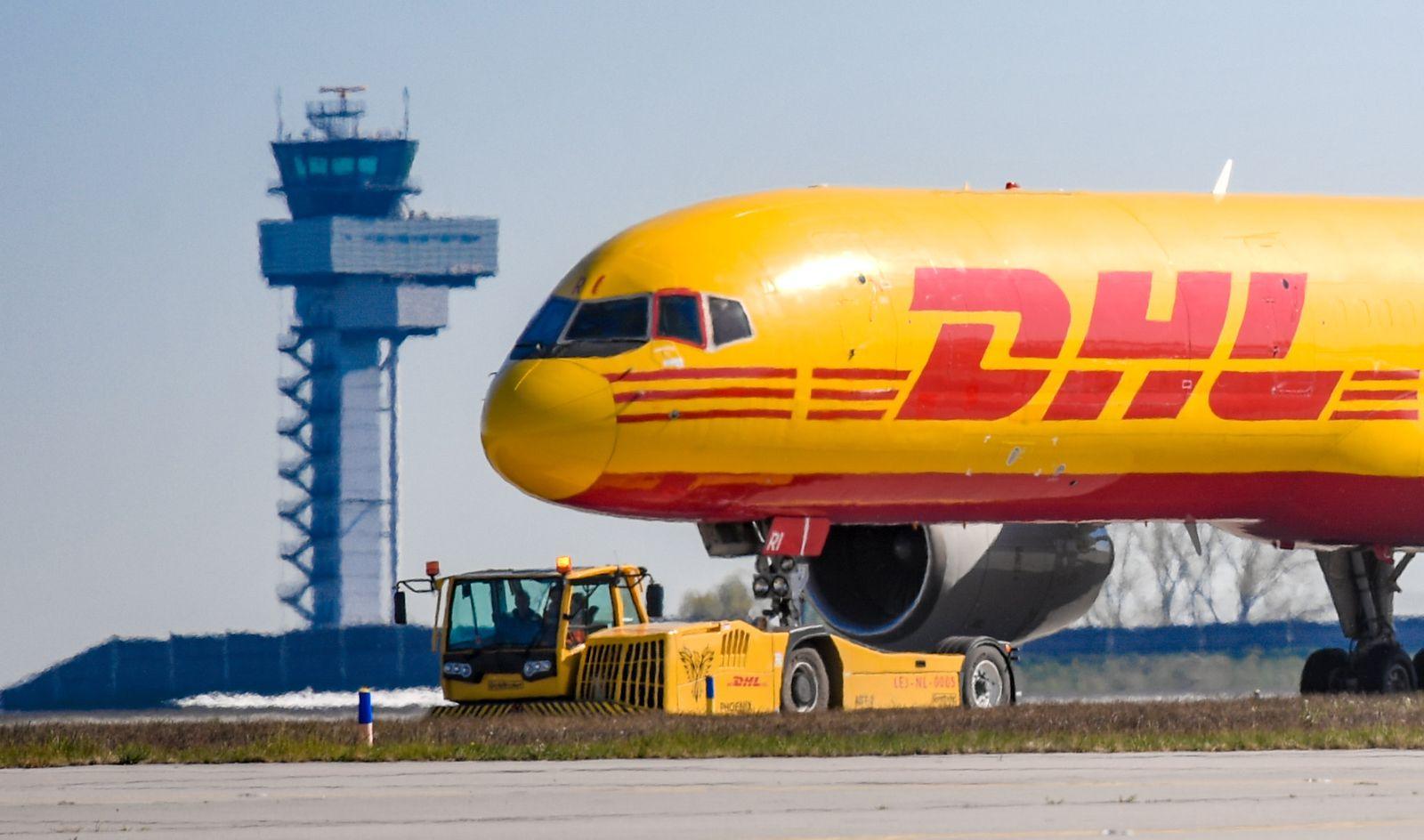 DHL-Frachtflugzeug
