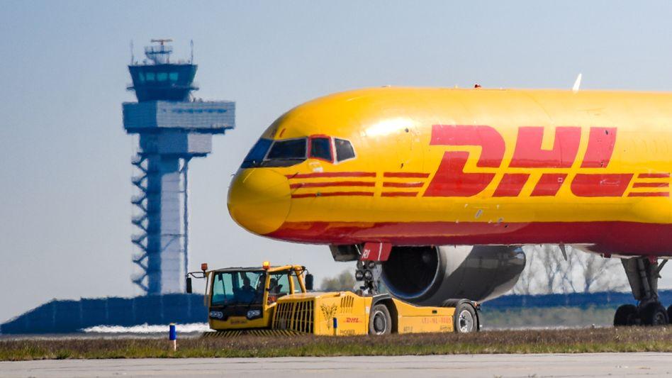 Frachtflugzeug am Airport Leipzig/Halle: Das Geschäft mit Fracht läuft noch vergleichsweise gut