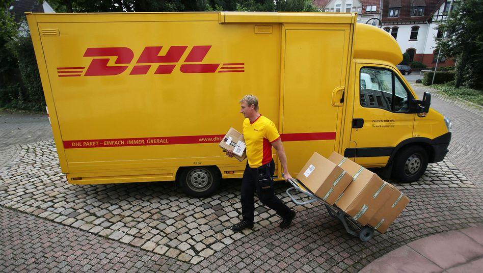 Paketzusteller der Deutschen Post