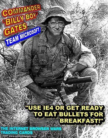 """""""Commander Billy Boy Gates"""": Microsoft hängt das Image des ewig bösen Buben an"""