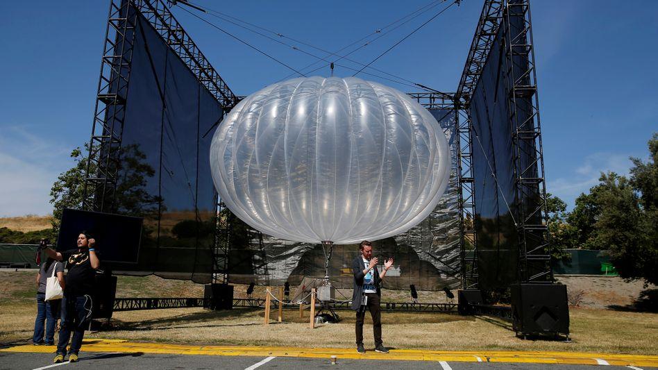 Am Boden: Loon-Ballon 2016 auf der Google-Entwicklerkonferenz I/O im kalifornischen Mountain View