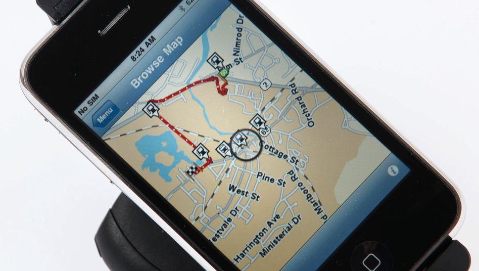 TomTom-App für Smartphones: Das Unternehmen will sich stärker auf das Geschäft mit digitalen Kartendiensten und Verkehrsinformationen konzentrieren