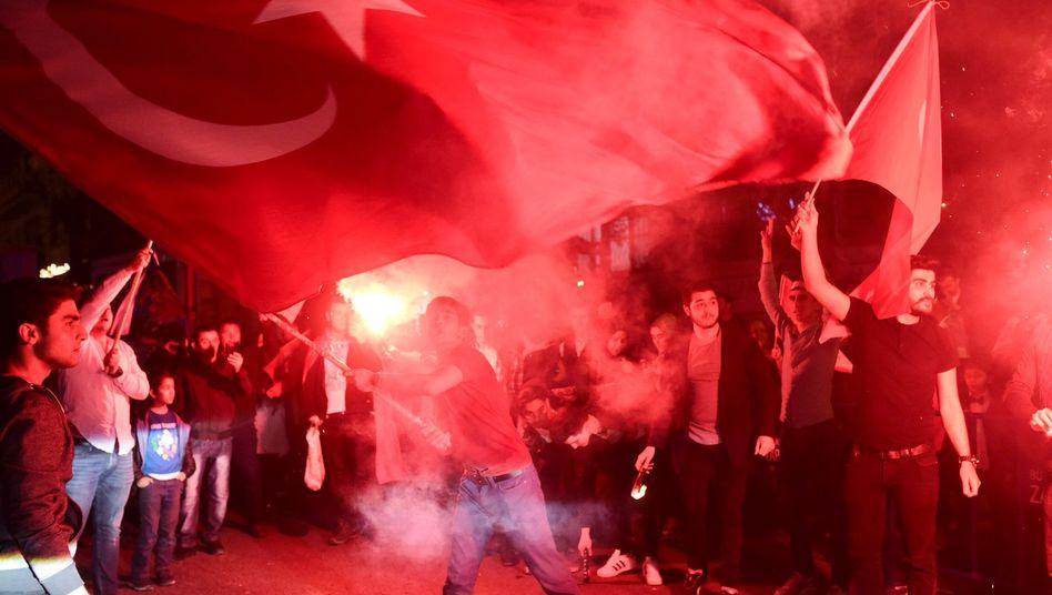 Erdogan-Anhänger in Istanbul