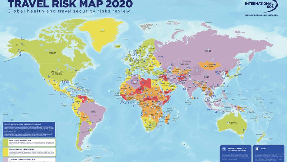 Risk Map 2020: 14 Veränderungen zum Vorjahr