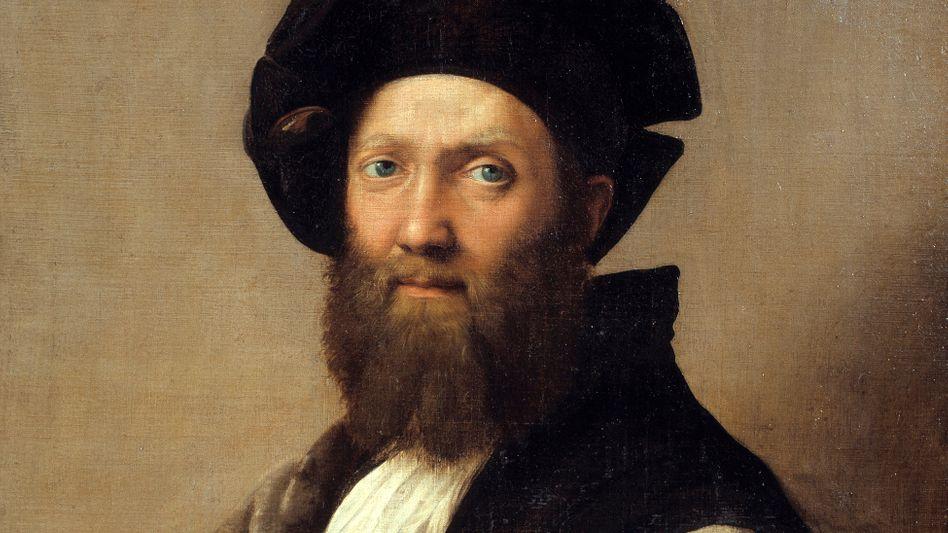 Der Diplomat und Schriftsteller Baldassare Castiglione, Gemälde von Raffael, um 1514