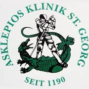 Kampf dem Drachen: Logo der Asklepios Klinik im Hamburger Stadtteil St. Georg