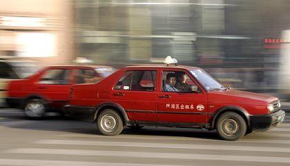 German Engineering: Ein Taxi in Shanghai, hier ein VW-Jetta
