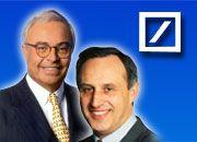 Rolf Breuer (l.) entdeckte Clemens Börsig für die Deutsche Bank