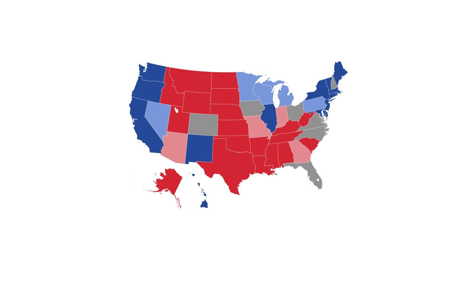 US Karte 2016