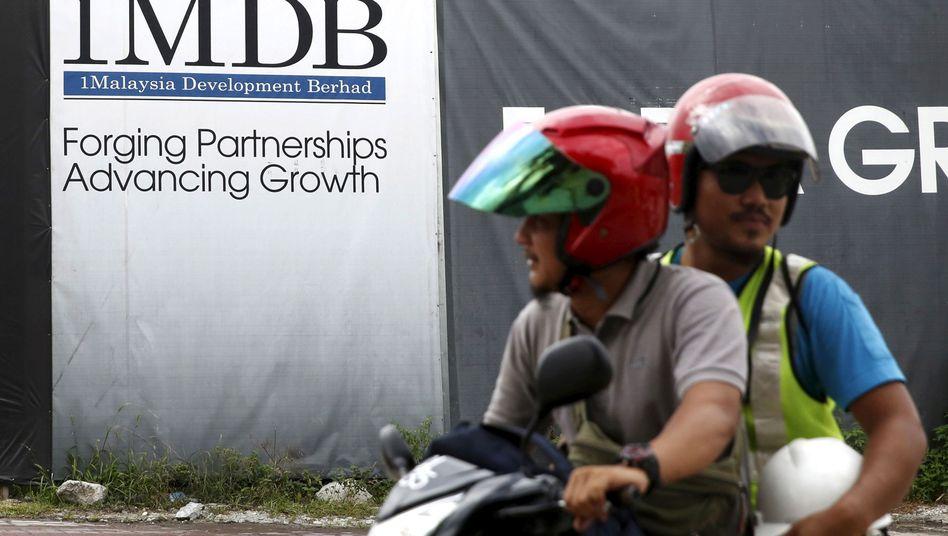 1MDB-Werbetafel in Kuala Lumpur (Archivaufnahme)