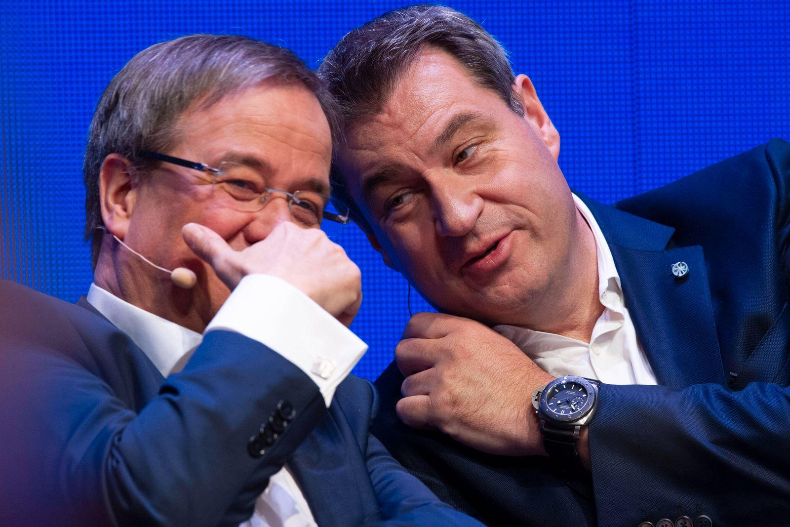 Machtkampf zwischen Markus SOEDER (Ministerpraesident Bayern und CSU Vorsitzender) und Armin LASCHET. Archivfoto: Armin