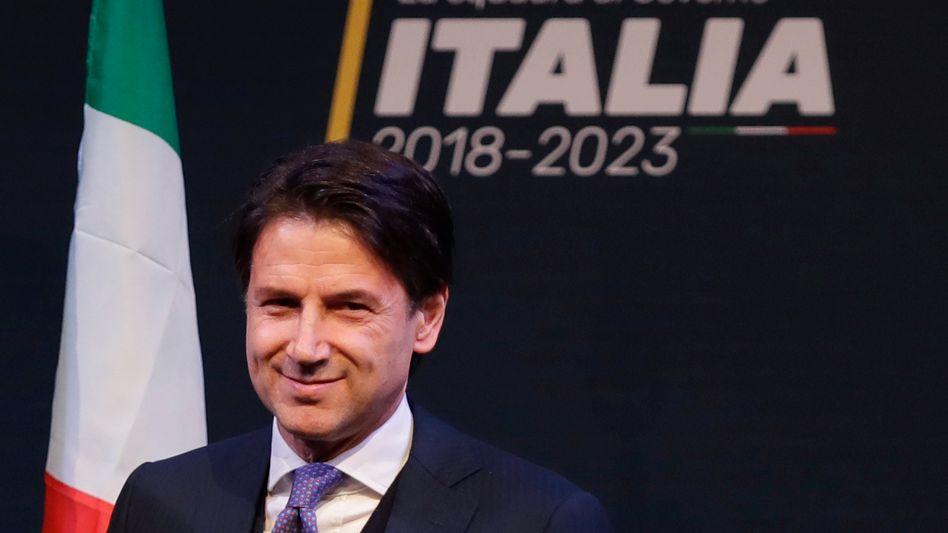 Neuer Regierungschef: Giuseppe Conte ist der Kandidat der neuen Regierungskoalition aus Lega und 5 Sternen