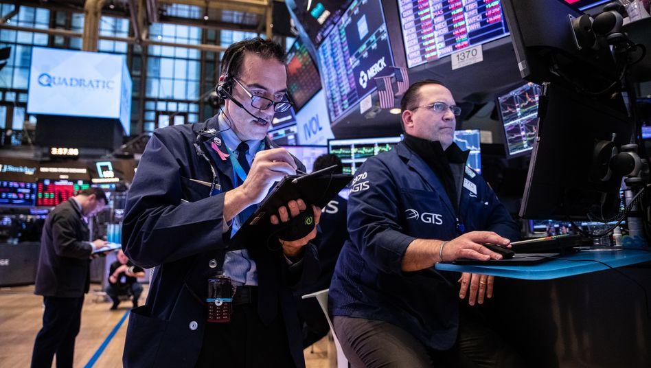 Händler an der New Yorker Börse: Die Gamestop-Episode hat die Aufmerksamkeit auf eine Gruppe von technisch versierten Hochfrequenz-Marktmachern gelenkt, die Banken als Vermittler von Aktien weitgehend abgelöst hat