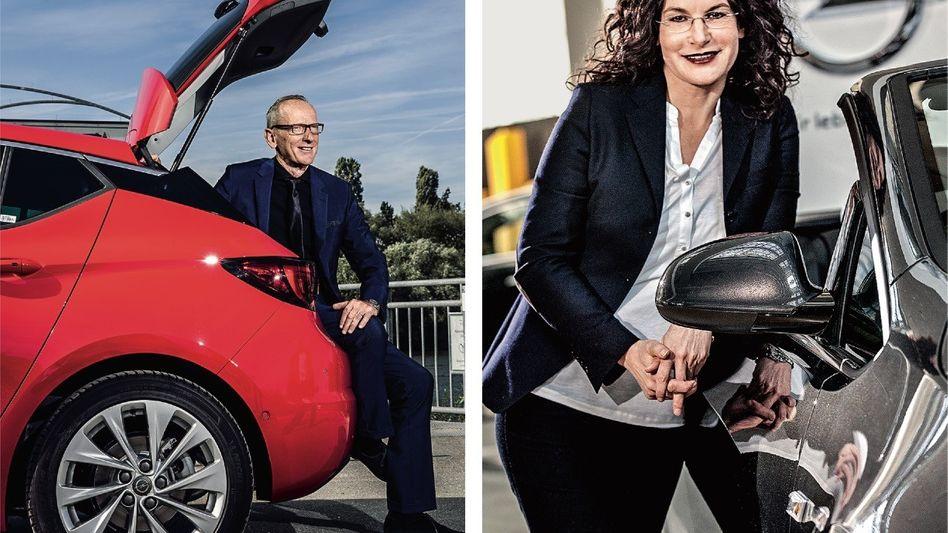 GEMEINSAME ZUKUNFT BEI DER KONKURRENZ? Opel-Lenker Karl-Thomas Neumann und Marketingchefin Tina Müller