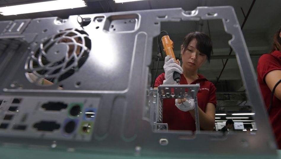 Foxconn-Fertigung im chinesischen Wuhan: Der Apple-Zulieferer will weitere Teile seiner Produktion verlagern