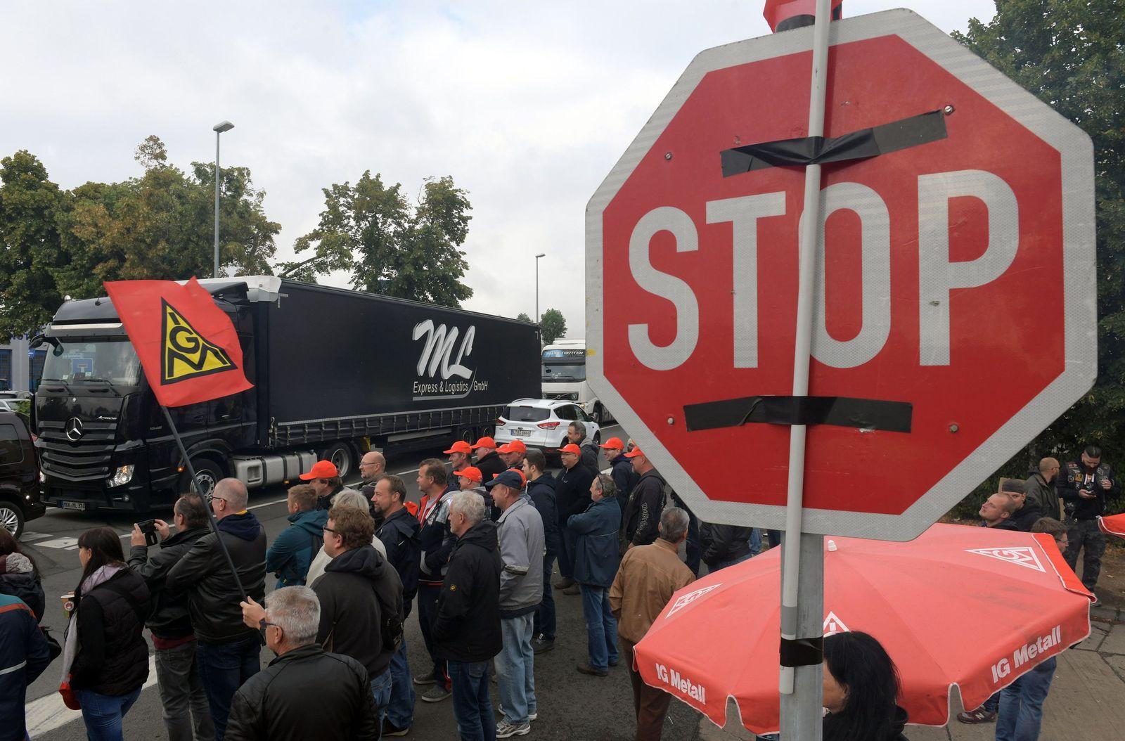 Streik bei Halberg-Guss in Leipzig