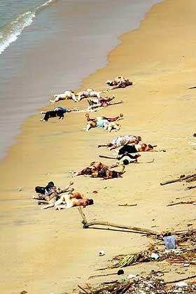 """""""Überall nur Leichen"""": Strandabschnitt in Khao Lak"""
