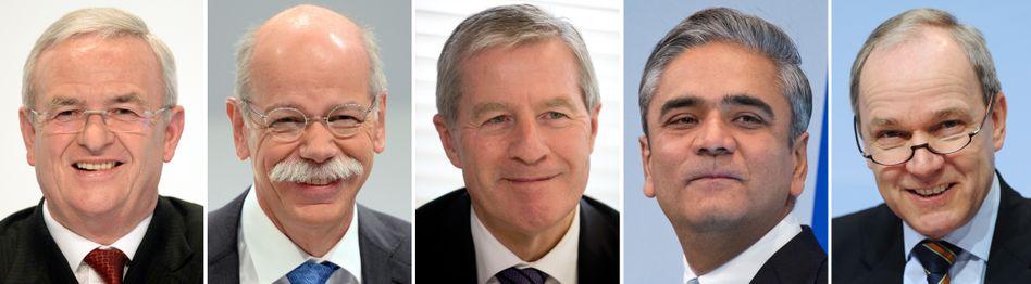 Martin Winterkorn, Dieter Zetsche, Jürgen Fitschen: In den Top-Etagen der Dax-Konzerne zählt Lebenserfahrung mehr als jugendlicher Schwung. Die Zahl der Topmanager unter 50 hat seit 2010 stark abgenommen - das Durchschnittsalter der 179 Dax-Vorstände ist unterdessen auf 54 Jahre gestiegen