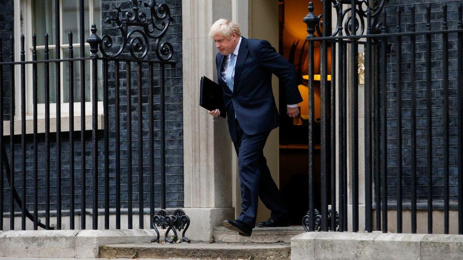 Großbritanniens Premierminister Boris Johnson am 2. September in London