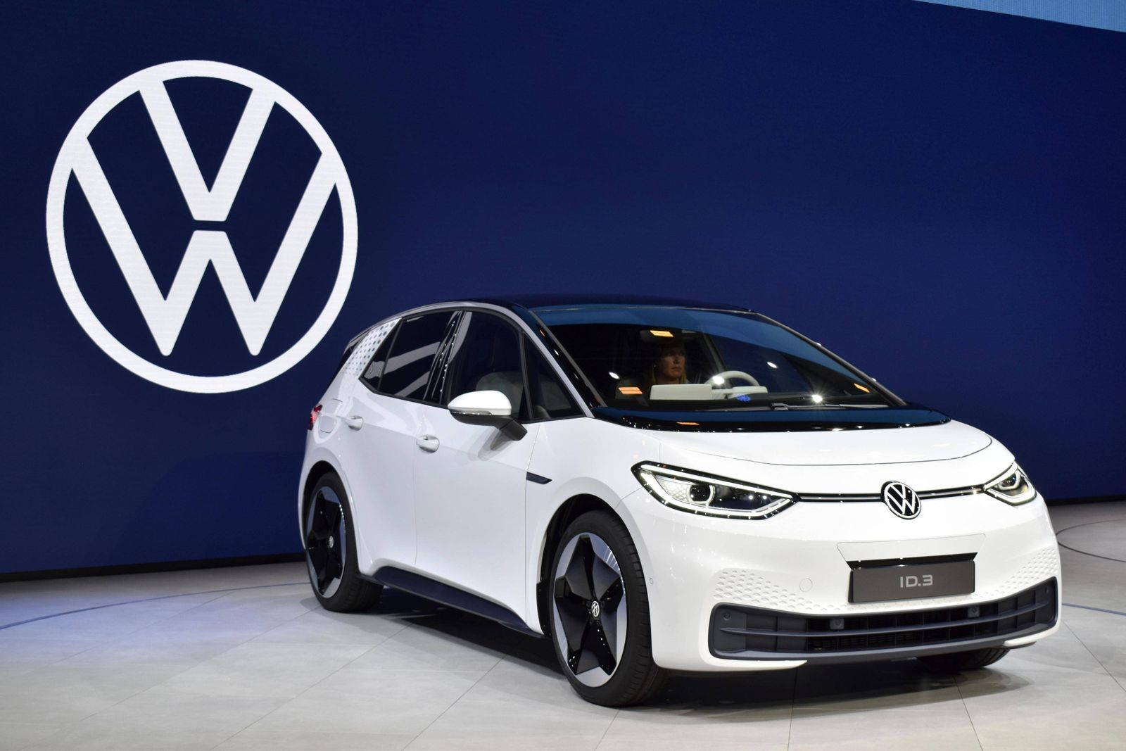 Volkswagen unveils new electric car Volkswagen AG s new electric car ID. 3 is unveiled to the media in Frankfurt on Sep