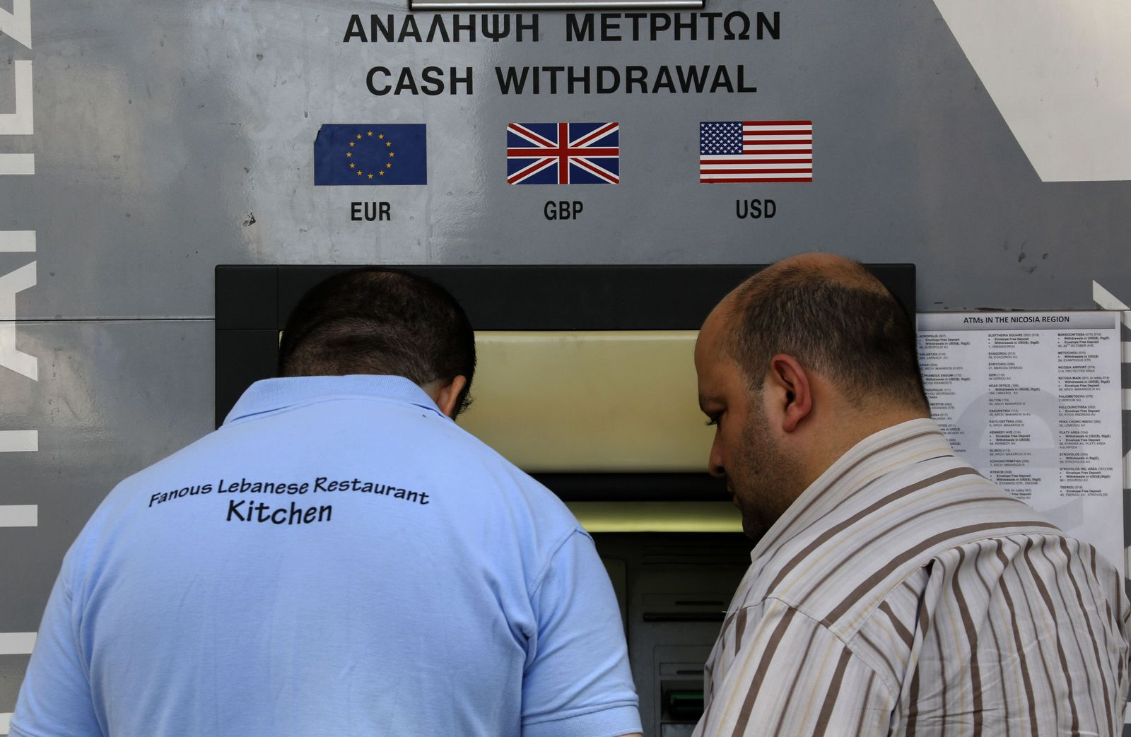 Geldautomat Zypern