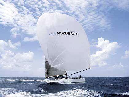 """Die favorisierte """"HSH Nordbank"""", Ex-""""Morning Glory"""" von Hasso Plattner, ein 24,25 Meter langer Maxiracer aus Hamburg/Kiel"""