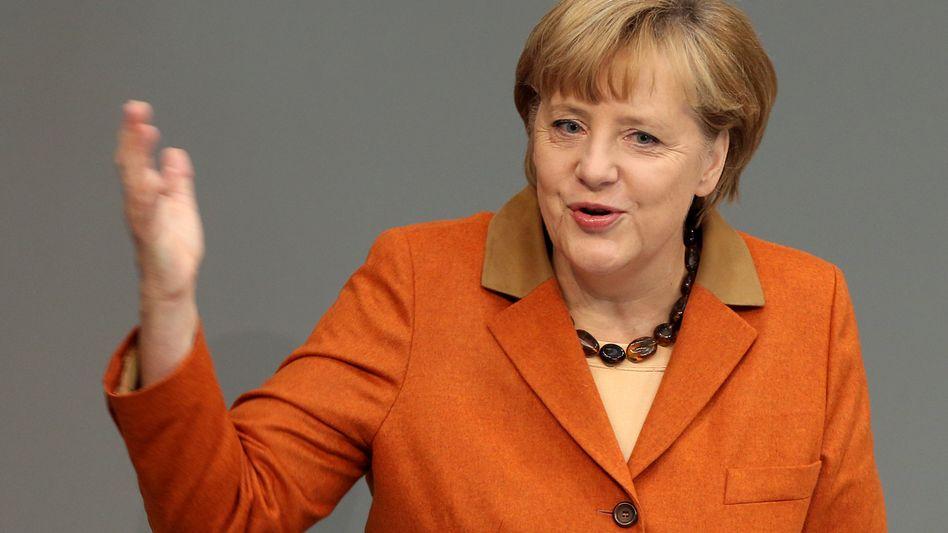 """Angela Merkel im Bundestag: """"Ich wünsche mir, dass Griechenland im Euro-Raum bleibt."""""""