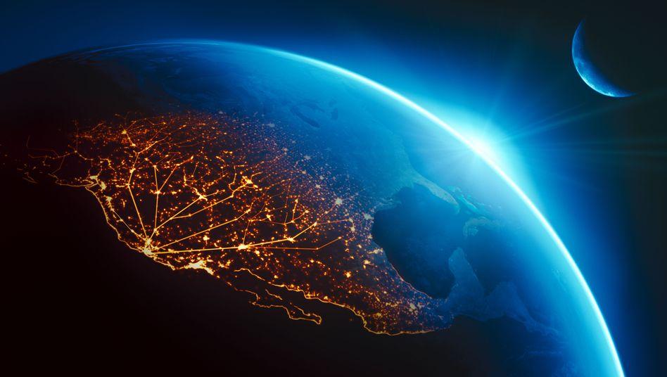 Das Silicon Valley aus der Perspektive des Weltalls