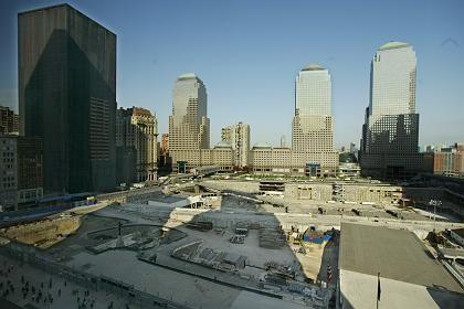 Die Narbe wird verschlossen: Ground Zero ist eine der größten Baustellen New Yorks
