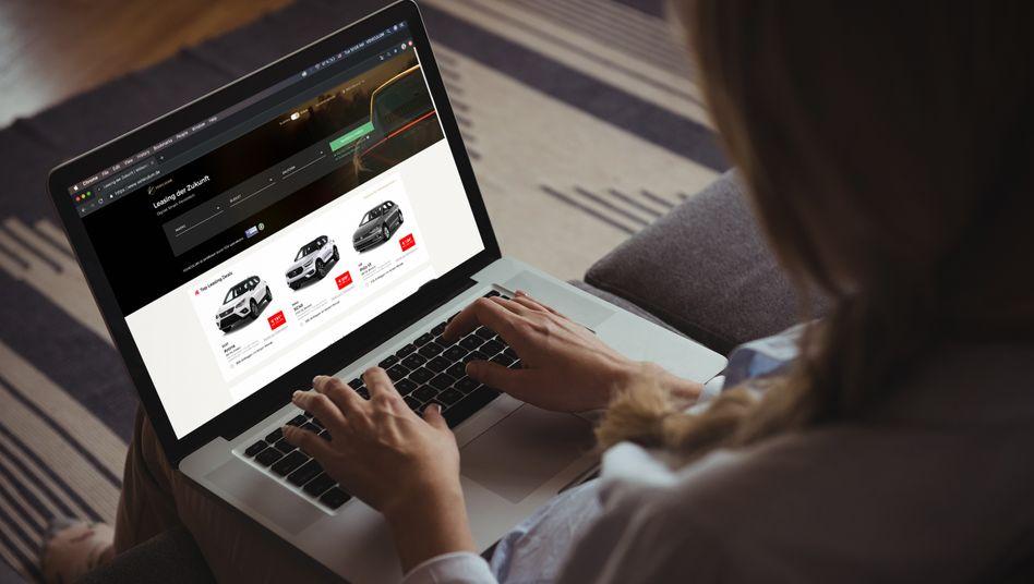 Vehiculum-Website: Der Anbieter verspricht einen transparenten Vergleich von monatlichen Leasingraten