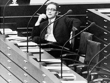 Auf der Regierungsbank: Erhard Eppler 1973 im damaligen Bonner Bundestag als Bundesminister für wirtschaftliche Zusammenarbeit
