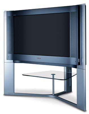 """Bildverbesserungs-Software """"Black Chili"""" für natürliche Farben bei allen größeren neuen Modellen mit Bildröhre: Sonys KV-36HQ100 im 16:9-Kinoformat"""