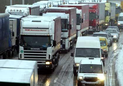Lastwagen auf der Autobahn: Schwächen bei der Erfassung