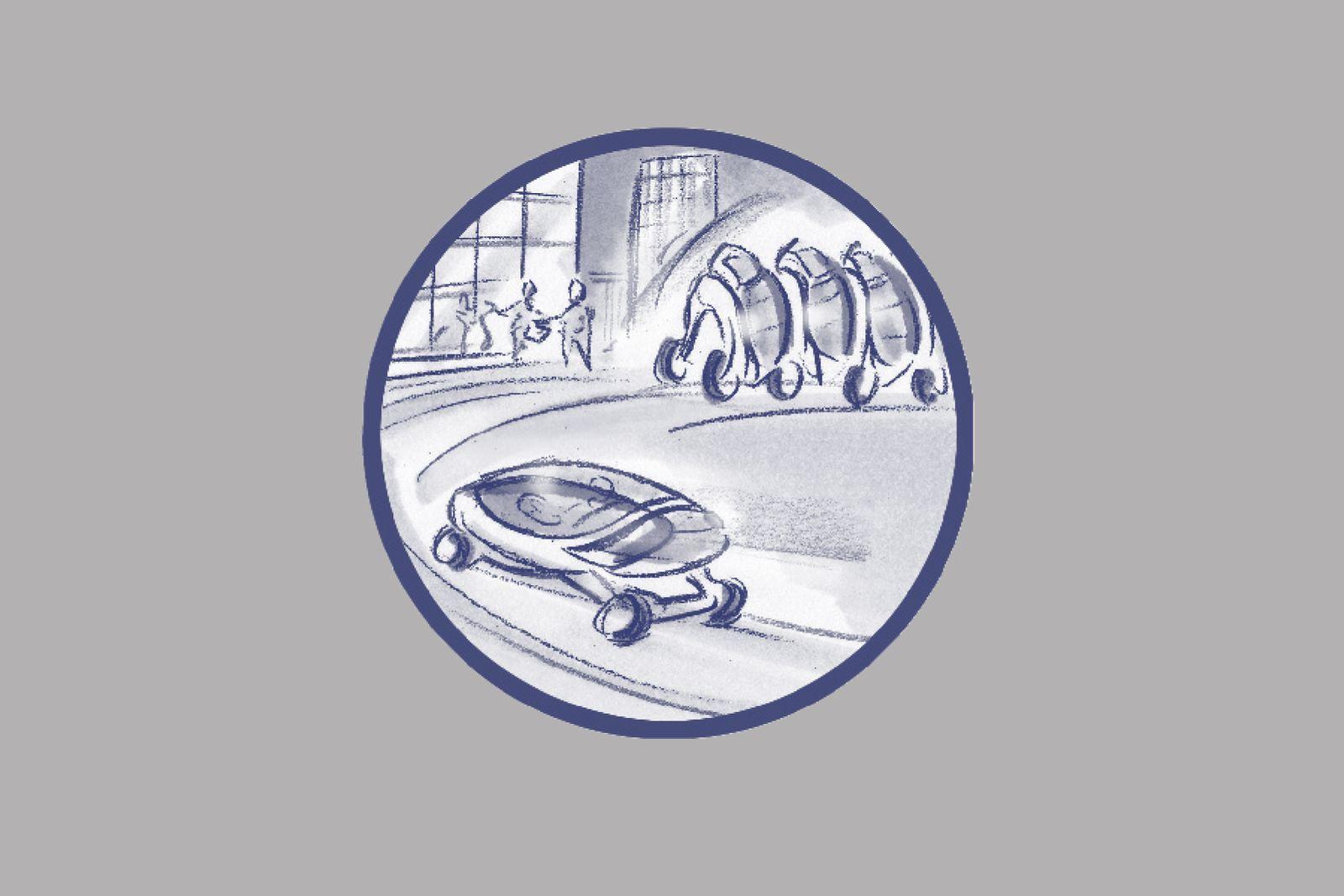 EINMALIGE VERWENDUNG ILLUSTRATION / Wie wir uns morgen bewegen werden / 20 Das Transformer-Auto