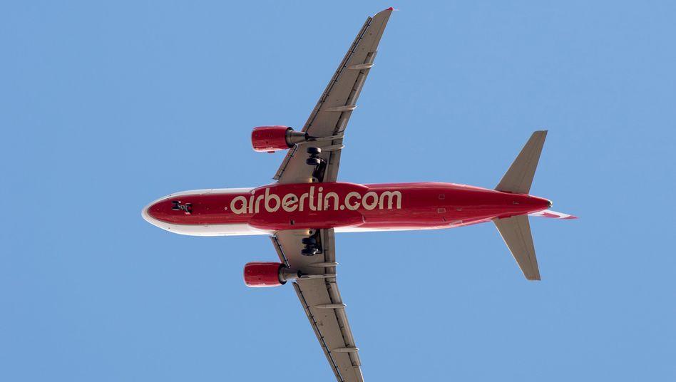Kann die Millionen gut gebrauchen: Air Berlin, Deutschlands zweitgrößte Fluggesellschaft