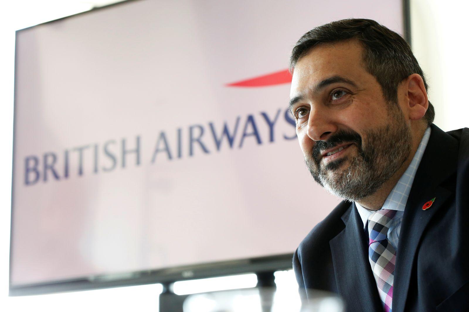 British Airways CEO Alex Cruz speaks during a news conference in Tel Aviv