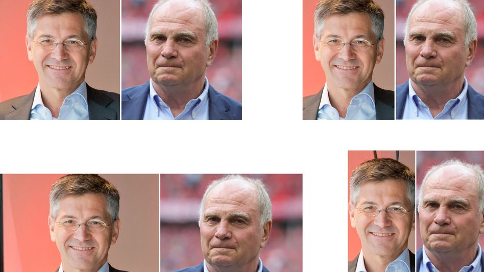 Der ehemalige Adidas-Chef Herbert Hainer (li) soll in den nächsten Monaten den langjährigen Bayern-Boss Uli Hoeneß (re) ersetzen