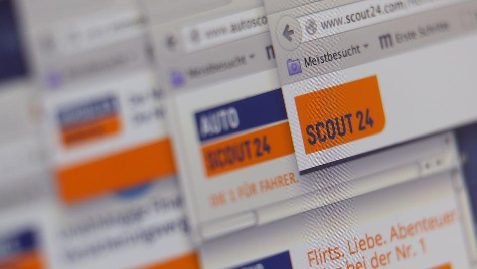 Screenshot von Scout-24-Angeboten (Archivaufnahme)
