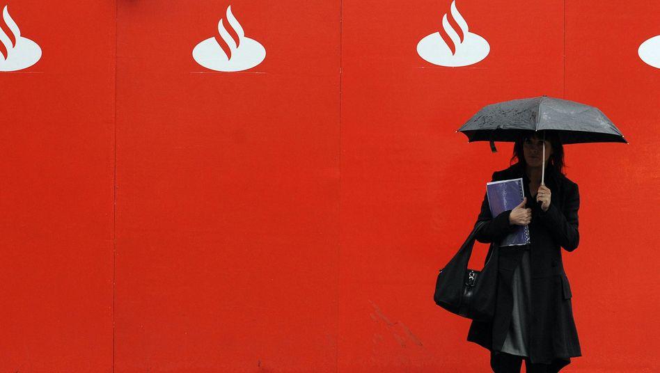 Schutzschild gegen Einbruch am Häusermarkt: Hohe Rücklagen sollen die Banco Santander krisenfest machen