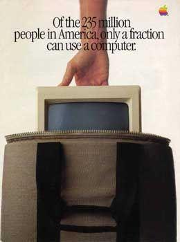 Nutzerfreundlch: Deckblatt der Apple-Anzeige 1984
