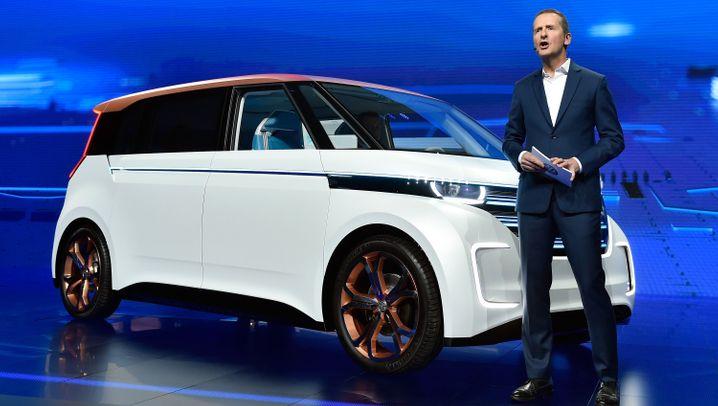 """Volkswagen auf der CES: Mit diesem Elektro-""""Bulli"""" fährt VW in eine abgasfreie Zukunft"""